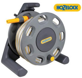Hozelock 2412 30M Compact Hose Reel and 25M Multi Purpose Hose