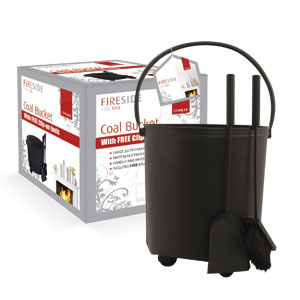 DeVille Coal Bucket: with FREE Clip-on Companion Set