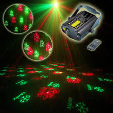 Jingles Indoor Christmas Laser Projector with Remote Control