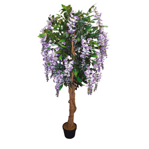 Nearly Natural 5ft Wisteria Tree Cream Flower