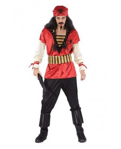 Red Pirate Costume - Similar to Pirates of the Carribean