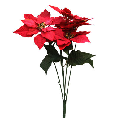 Red or White Poinsettia Artificial Flower
