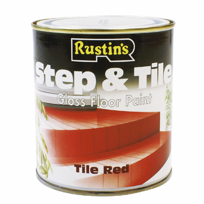 Rustins Step and Tile - Red - 250ml 500ml or 1L