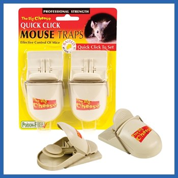 The Big Cheese Quick Click Ready To Use Mouse Traps STV148