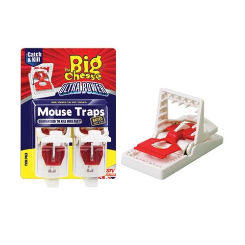 STV148 BIG CHEESE MOUSE TRAP ULTRA POWER 2 PACK