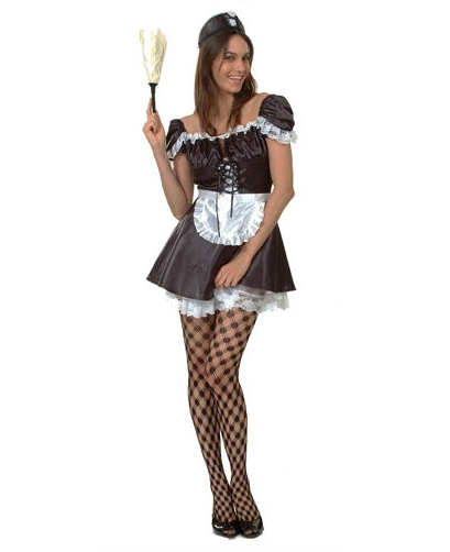 Sexy French Maid  Fancy Dress Costume