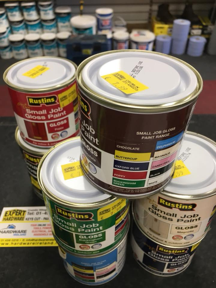 Rustins Small Jobs Gloss Paint Assorted Colours