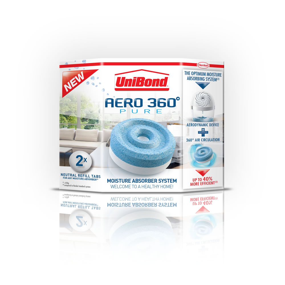 UniBond Humidity Absorber Refill Tablets 2in1 450gx2