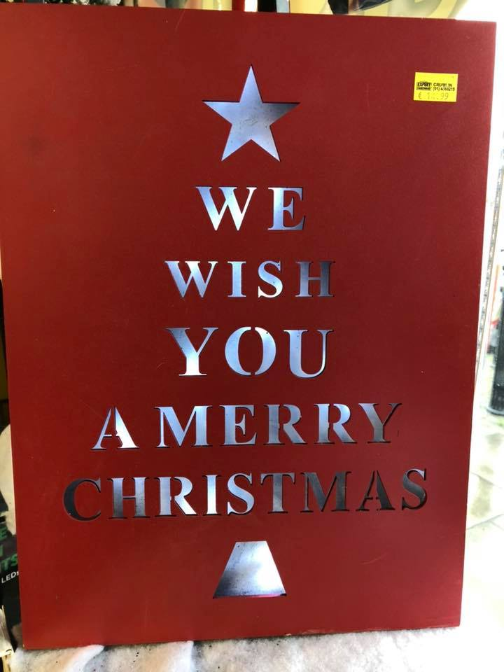 We wish you a Merry Christmas Light Up Frame