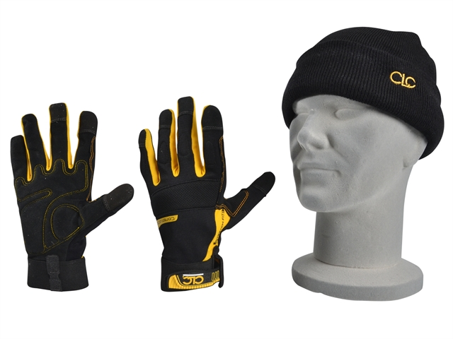 XMS18CARPGLO CLC Flexible Work Gloves and Beanie Hat