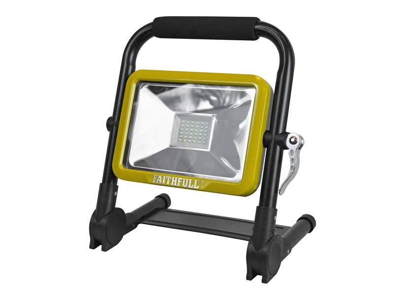 XMS18WLFOLD Faithfull Folding Rechargeable Worklight 20W 1800 Lumens