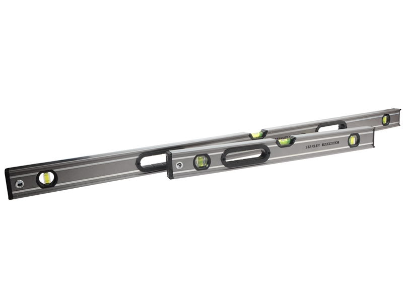 XMS19LEVTWINStanley FatMax Pro Box Beam Spirit Levels 120cm and 60cm