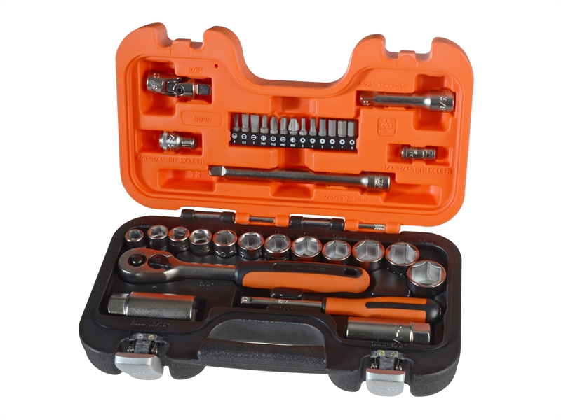 BAHS330 Bahco S330 Socket Set of 34 Metric