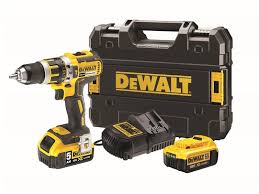 XMS18CD18V DEWALT XR Brushless G2 Combi Drill 18V with batteries