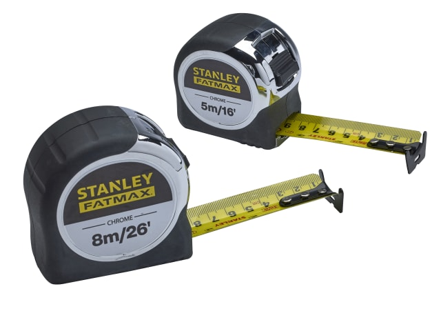 XMS19CTTWIN Stanley FatMax Chrome Tape Twin Pack