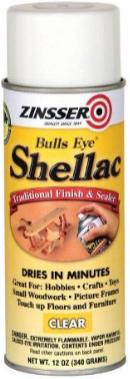 Zinsser Bulls Eye Shellac Aerosol Dries in Minutes
