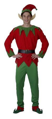Adult Elf Christmas Fancy Dress Costume