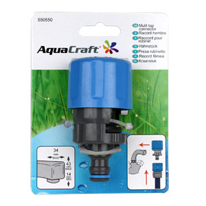Aquacraft Square Tap Connector with Adaptor
