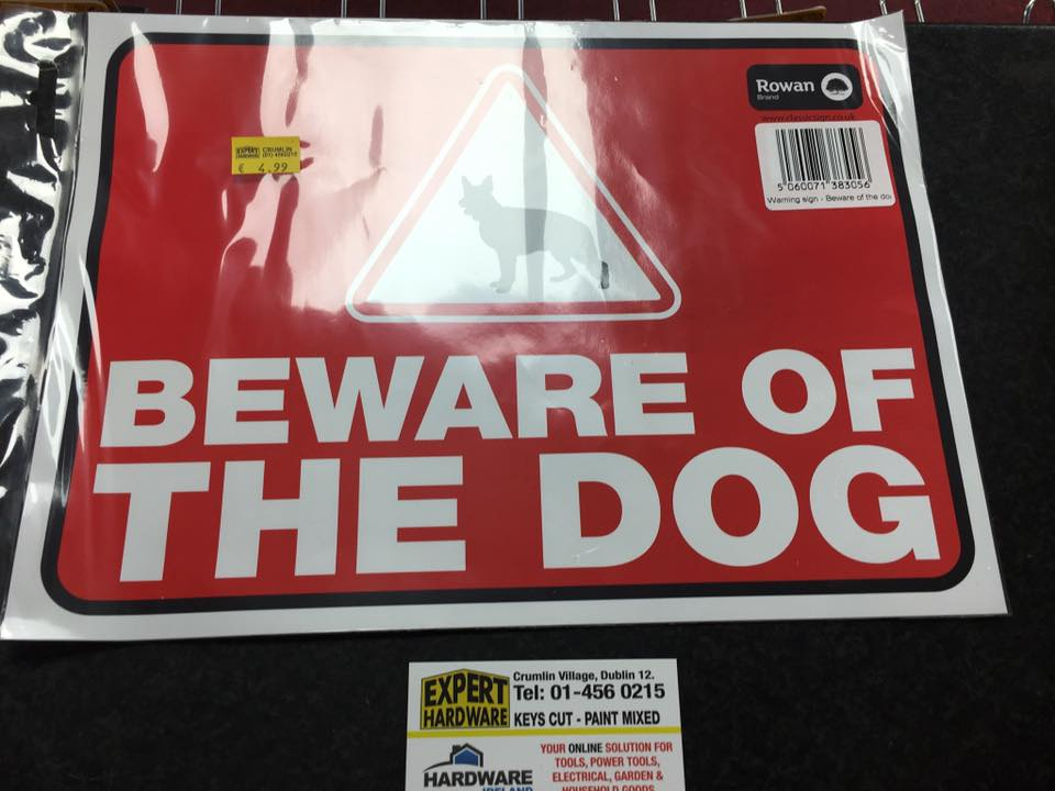 Warning Sign Beware of the Dog
