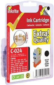 Canon BCI-24BK and Colour Ink Cartridge x 2