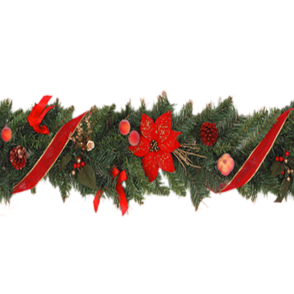 8 Foot Decorated Chrismas Garland