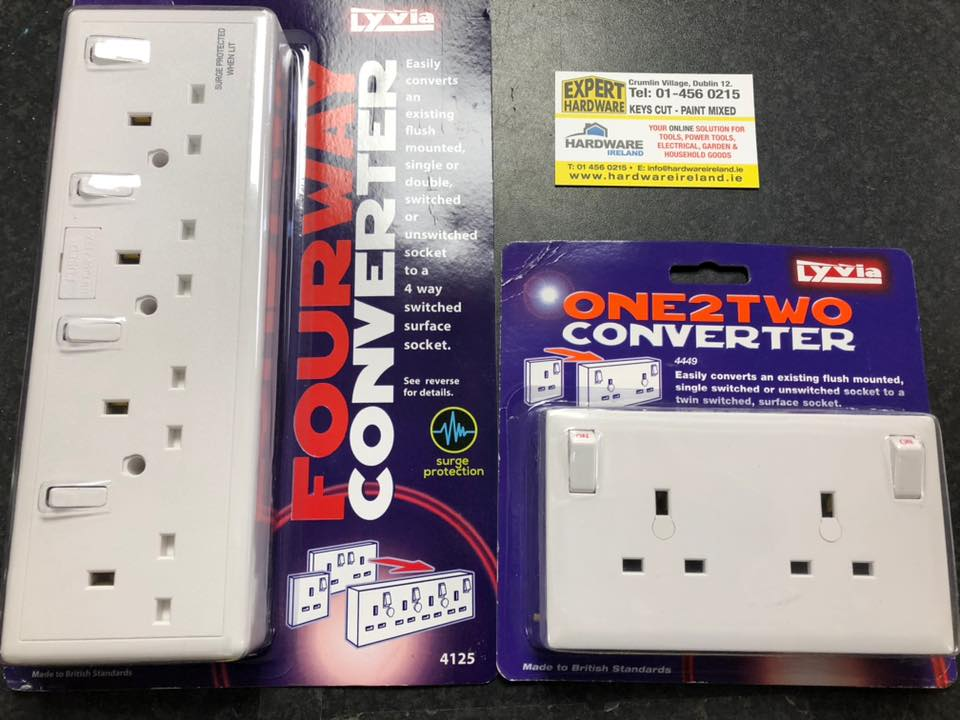 Dencon 13A Converter Sockets Assorted Sizes