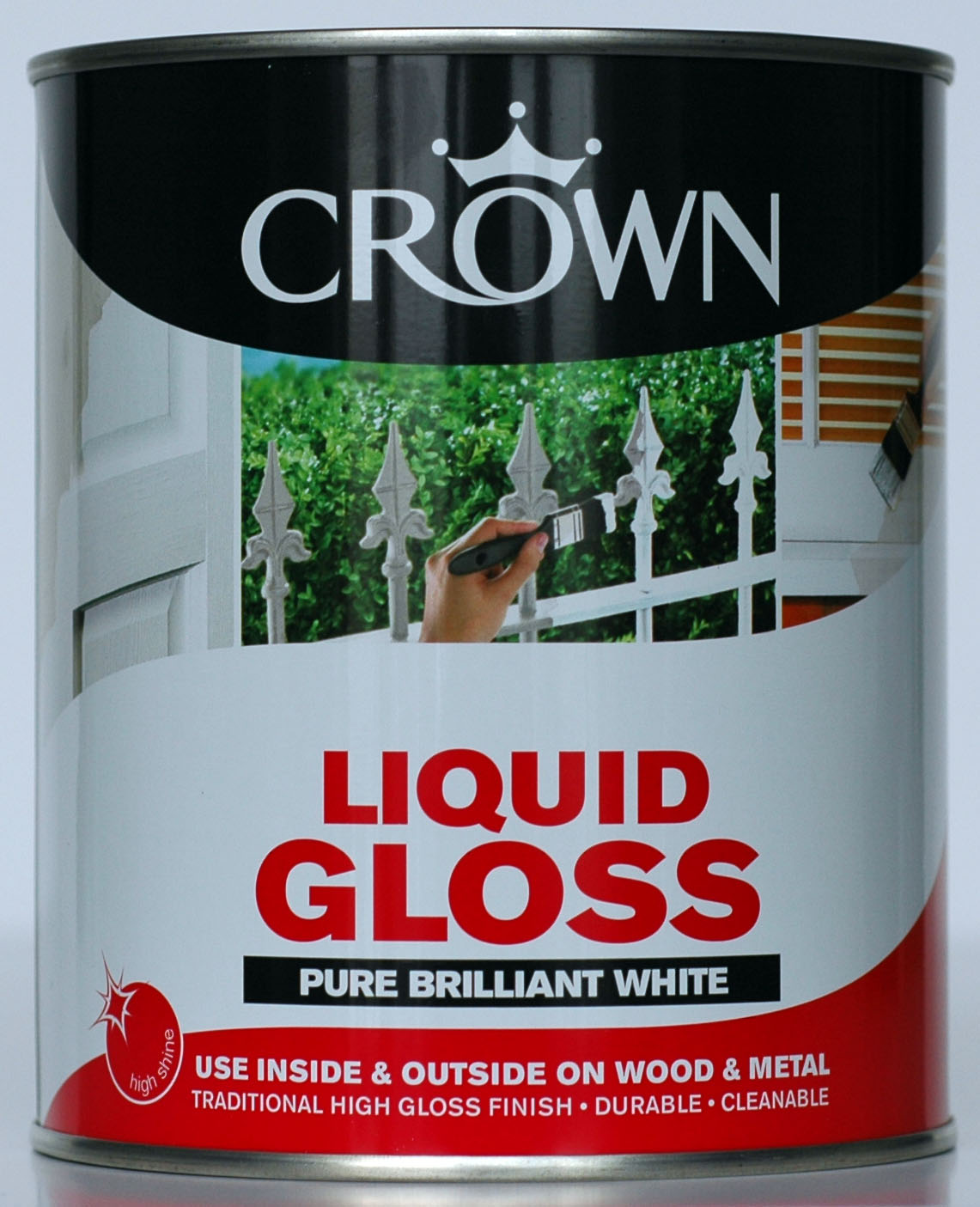 Crown Gloss Paint Brilliant White - 1L or 2-and-a-half L