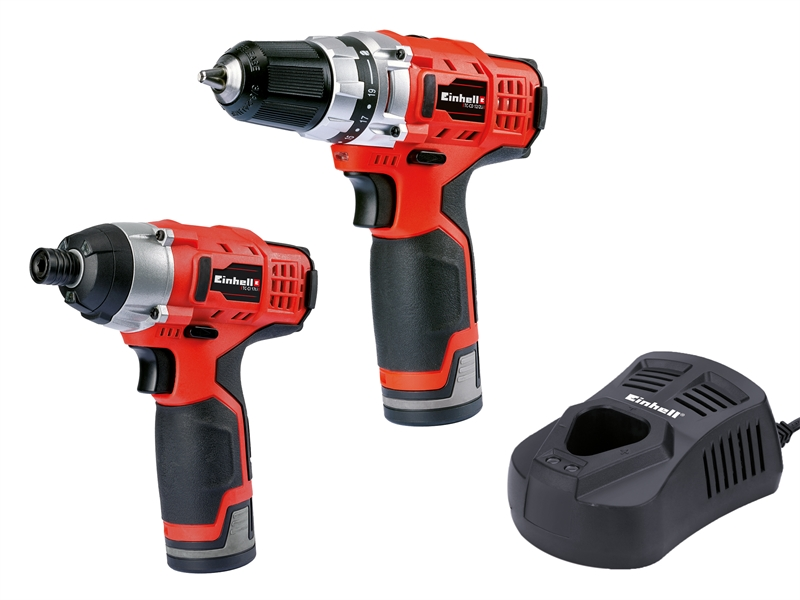 XMS18TWIN12V Einhell TC CD CI Cordless 12 Volt Twin Pack