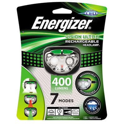 Energizer Vision Ultra Rechargeable Headlight 400LUM Torch