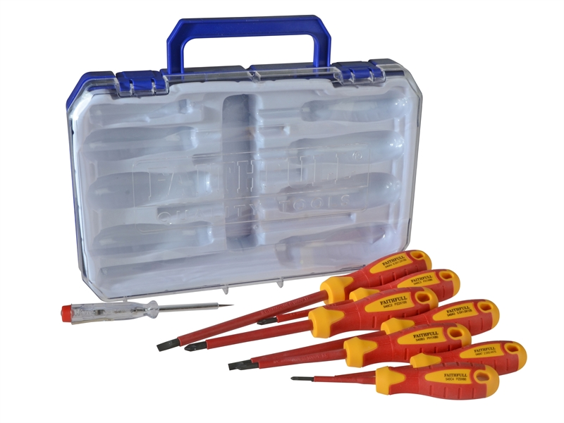 XMS17VDESET8 Faithfull VDE Screwdriver Set 8 Piece