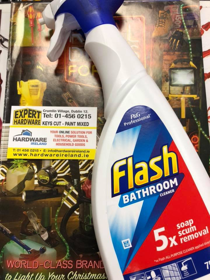 Flash Spray With Bleach 450ml Bathroom