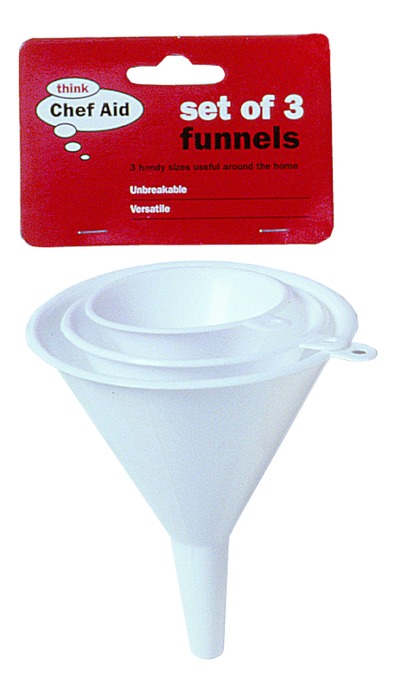 Chef Aid 3 Pack Plastic Funnels