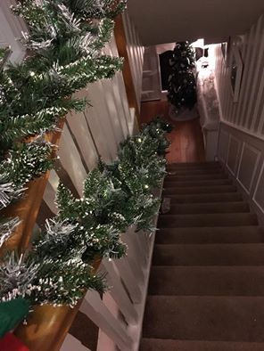 Christmas Garland with Snow Tip 8 Foot