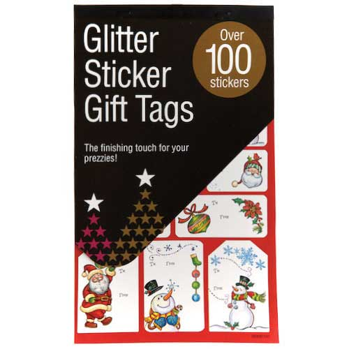 Glitter Sticker Gift Tags 100 Pieces