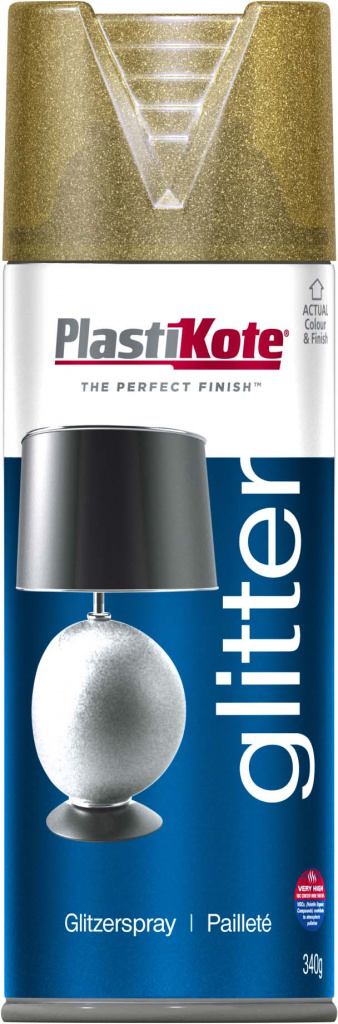 Plasti-kote Glitter Spray Paint 400ml Silver or Gold