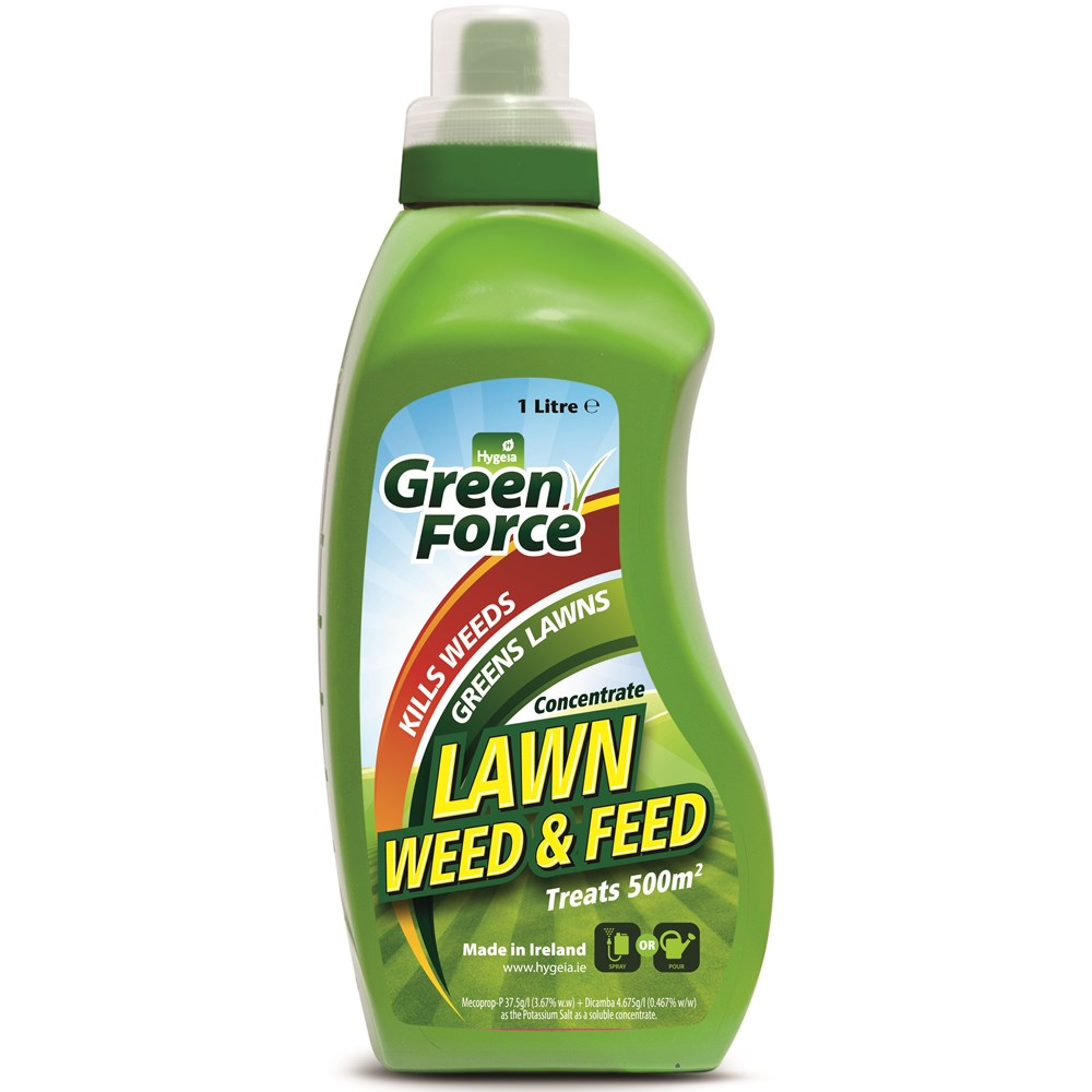 Hygeia Green Force Lawn Feed and Weedkiller 1L