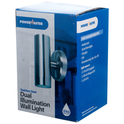 Powermaster GU10 Dual Illumination Light Stainless Steel