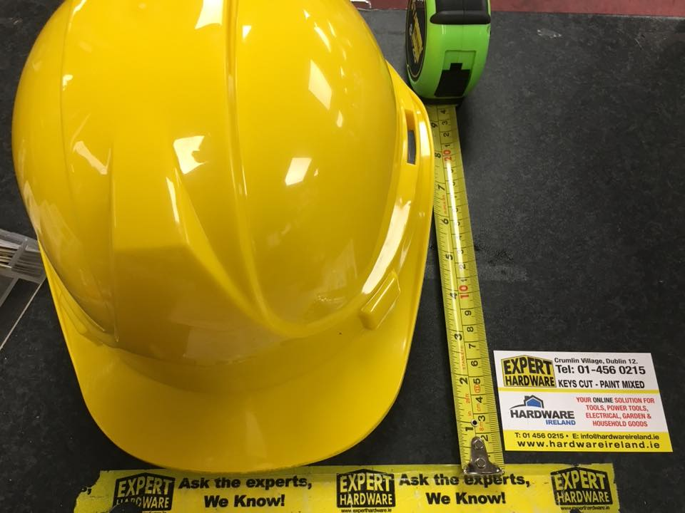 Glenwear Safety Helmet 56-62cm Yellow Hard Hat