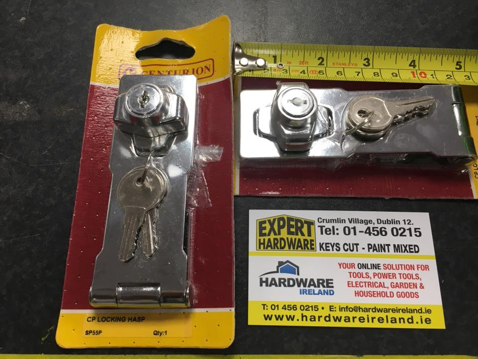 Chrome Locking Hasp and Staple