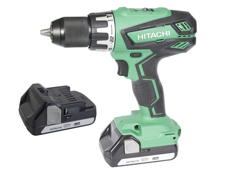 XMS17HIT18V Hitachi DV18DGAL Combi Drill 18 Volt with 2 batteries