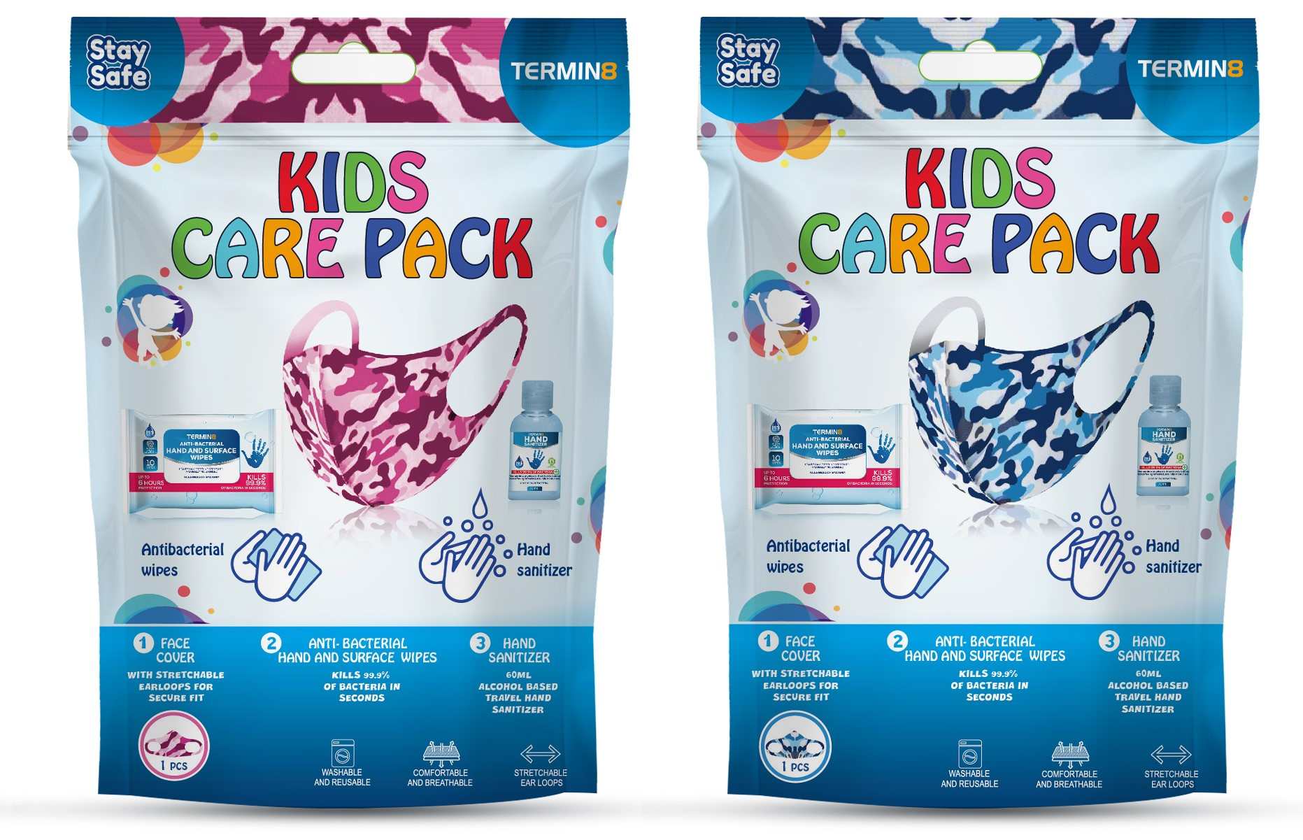 Termin8 Kids Care Pack Blue or Pink