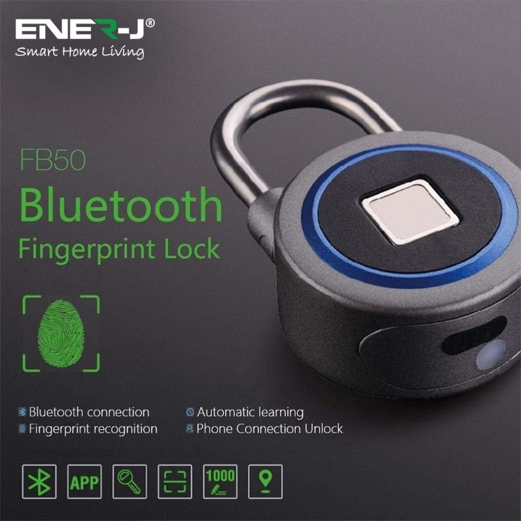 Ener-J Bluetooth Fingerprint Padlock