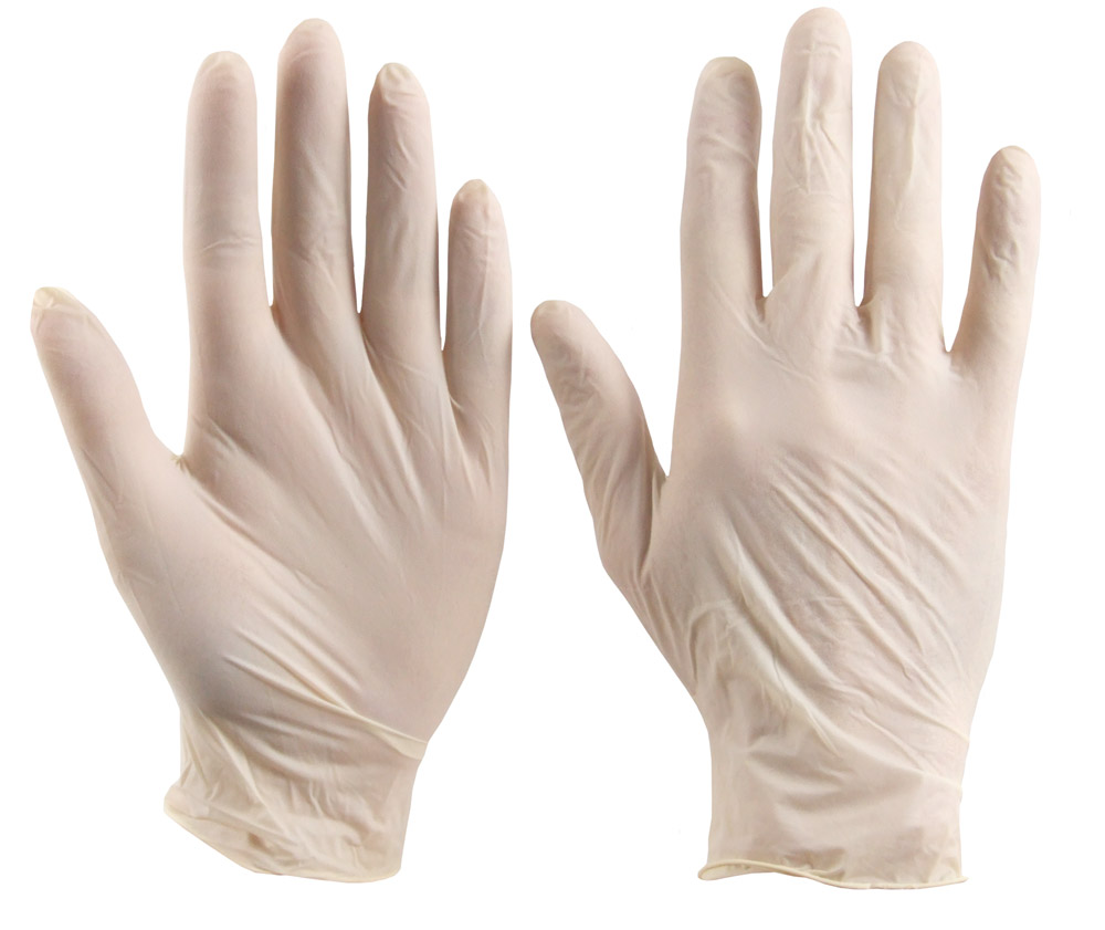 Latex Disposable Gloves 100 Pack