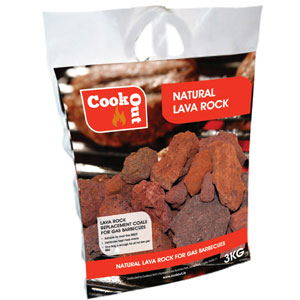 Cookout Lava Rock 4KG Replacement Coal for Gas BBQs
