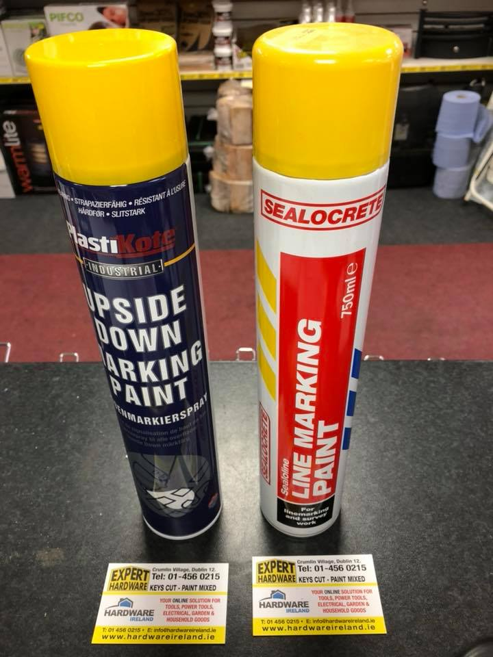 Line Marking Paint Yellow or White 750ml