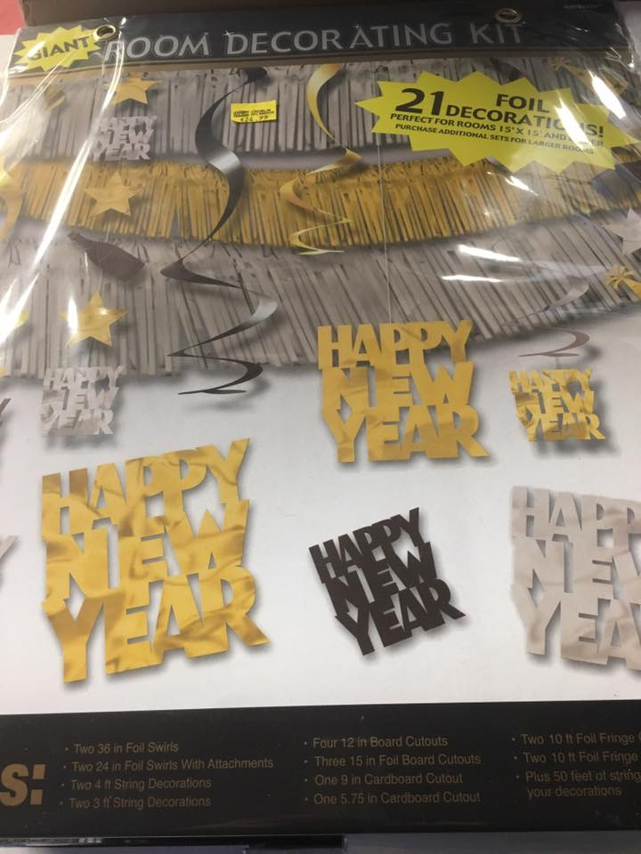 Happy New Years Room Decorating Kit