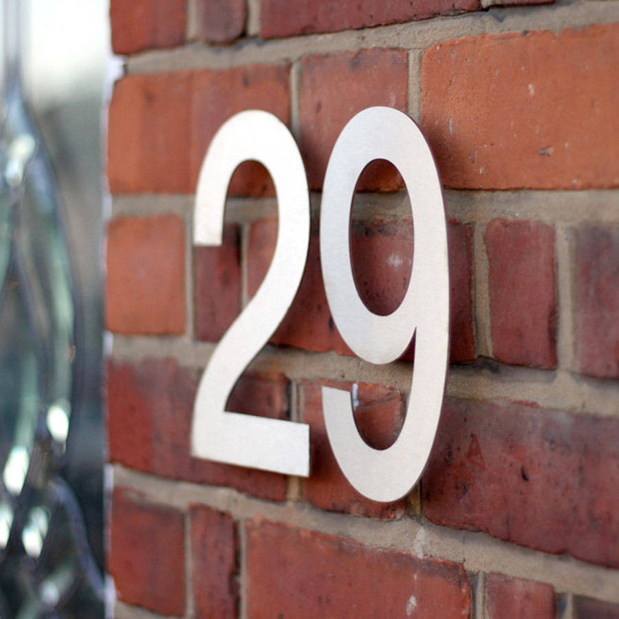 Floating House Numbers Silver or Black 150mm