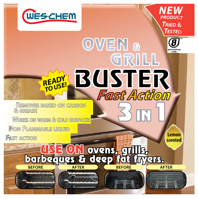 Wes Chem Oven and Grill Buster 500ml Spray