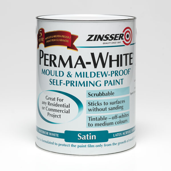 Zinsser PERMA WHITE Mould and Mildew Proof Interior Paint