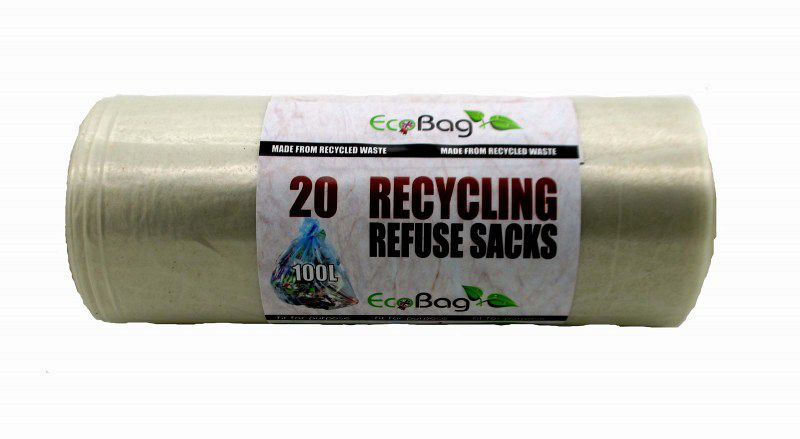 Clear Recycling Refuse Sacks 20 Pack Ecobag